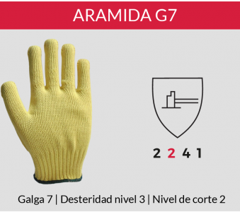 Guante Kevlar G7 Liso